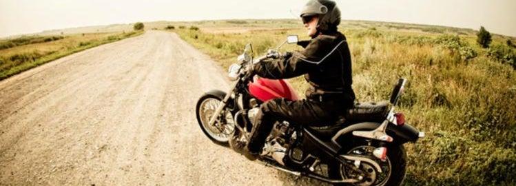 Motorcycle rider wearing proper gear