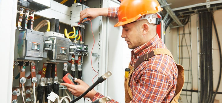 picture of an electrical contractor