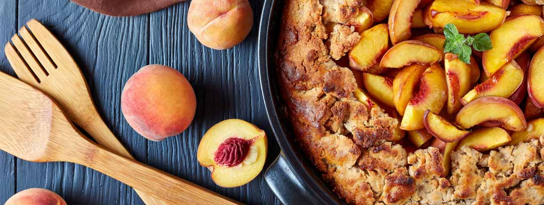 Delicious and sweet Peach cobbler