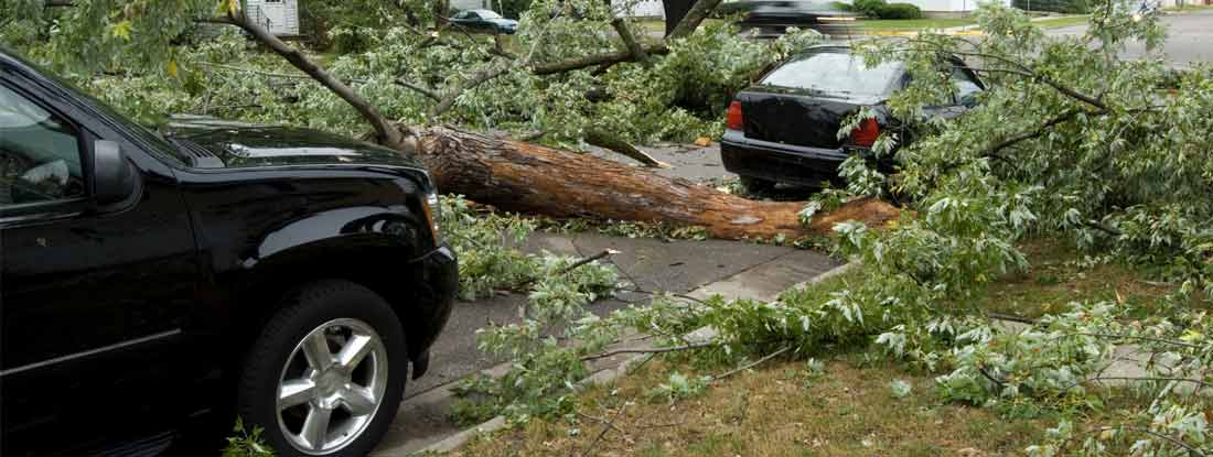 Steps to take after car takes damage from tornado