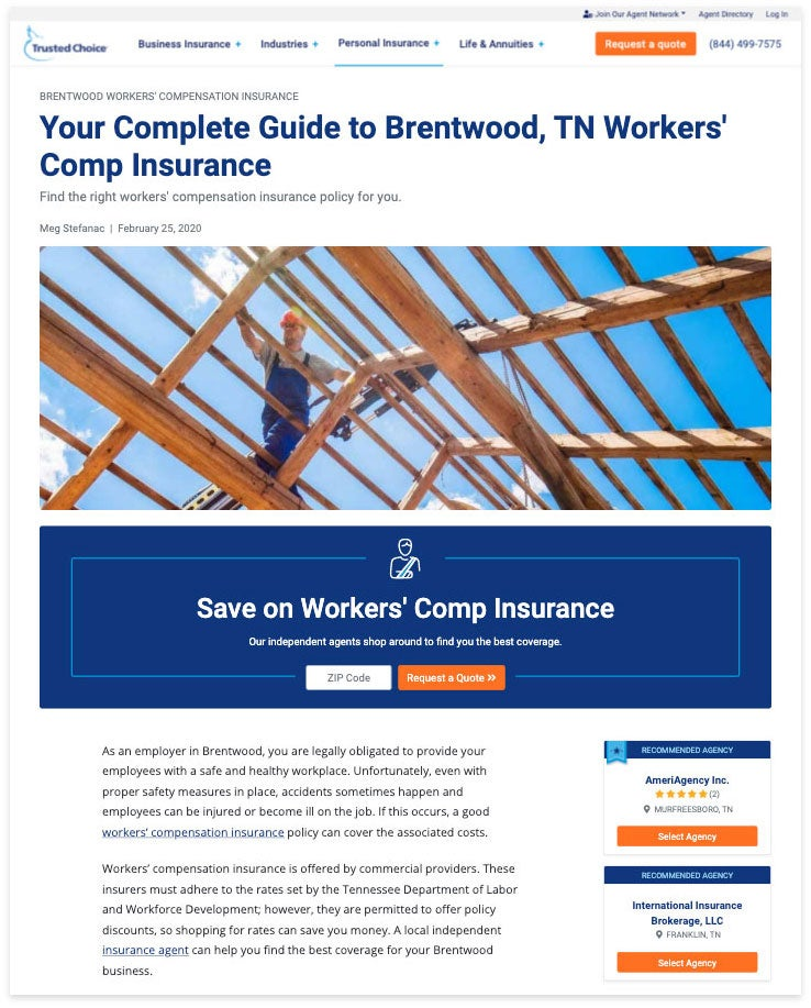 brentwood workers' comp