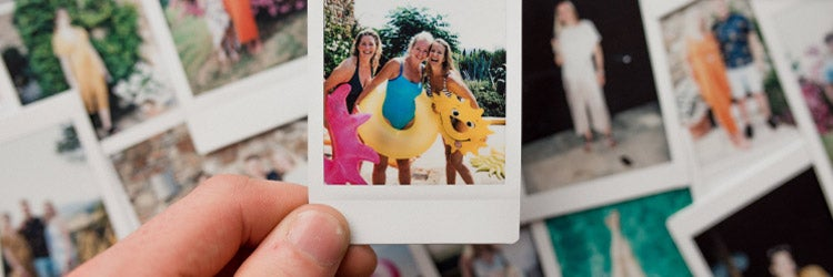 Instant Film Montage of high school friends
