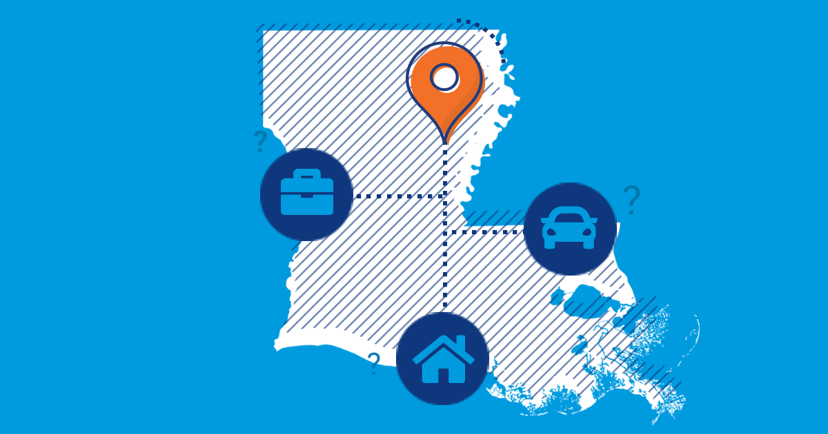 louisiana car, home and business insurance icons