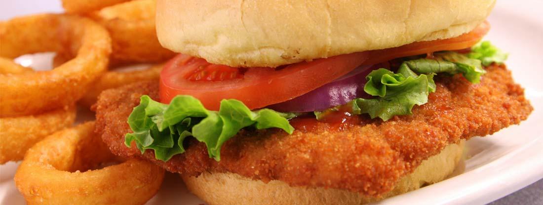 Iowa's Breaded Pork Tenderloin sandwich