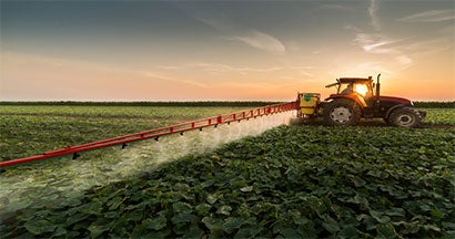 tractor waters crops