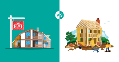 buy vs building a house