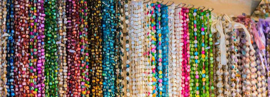 Costume colorful jewelry with real and unreal stones