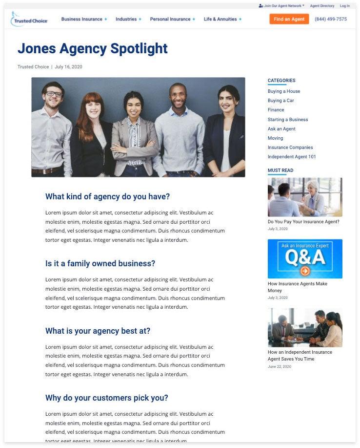 jones agency spotlight
