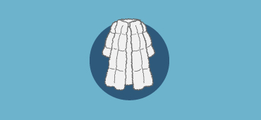 illustration graphic showing fur coats