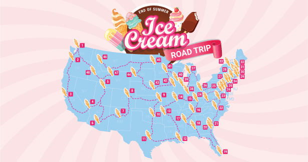 Ice Cream Road Trip Map