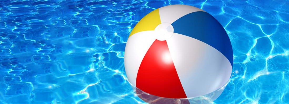 inflatable plastic beach ball sold at swimming pool supply stores