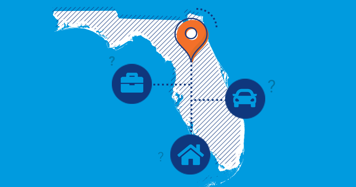 Florida car, home and business insurance icons