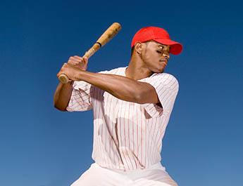 Baseball player with bat