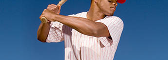 Baseball player with bat
