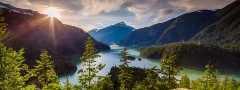 Diablo Lake is a reservoir in the North Cascade mountains of northern Washington state