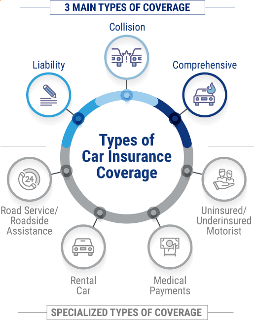 Main types of car insurance.  Specialized types of car insurance.