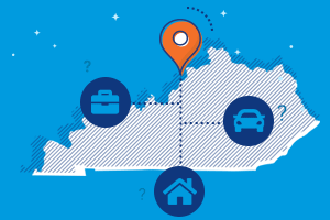 kentucky car, home and business insurance icons