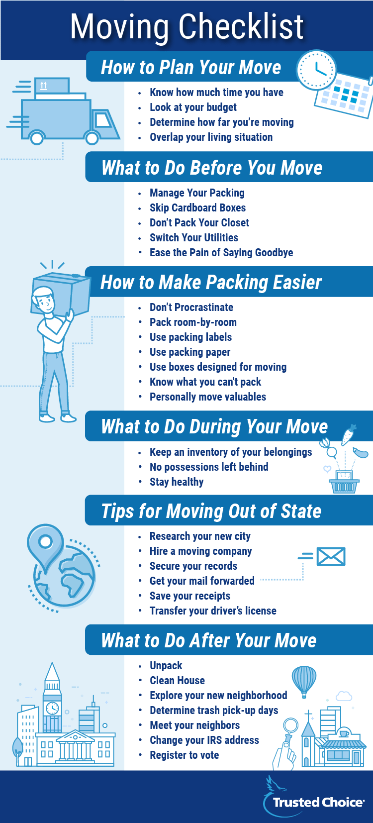 moving tips and checklist