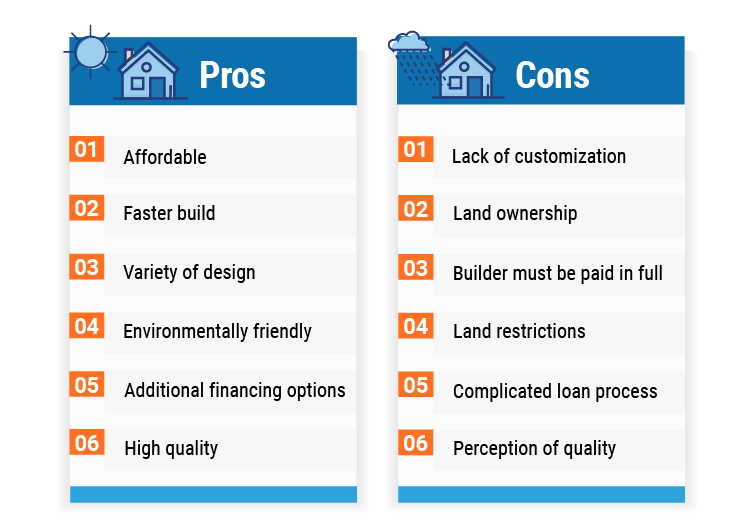 prefab home pros and cons