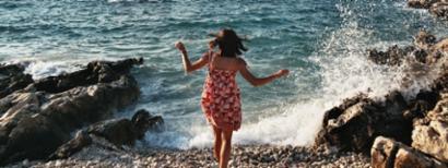 girl vacationing at the beach