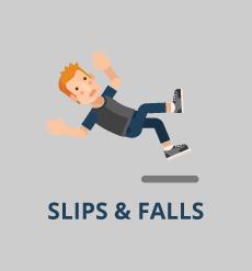 guy slipping illustration