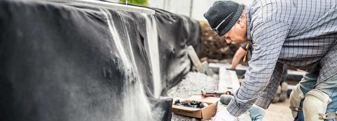 Retaining wall construction insurance