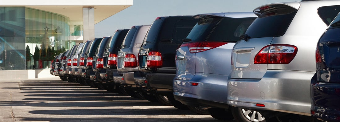 SUV vehicles in dealership