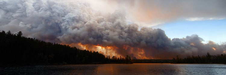 The Pagami Creek wildfire in the Boundary Waters Canoe Area, Minnesota. It burned over 100,000 acres.