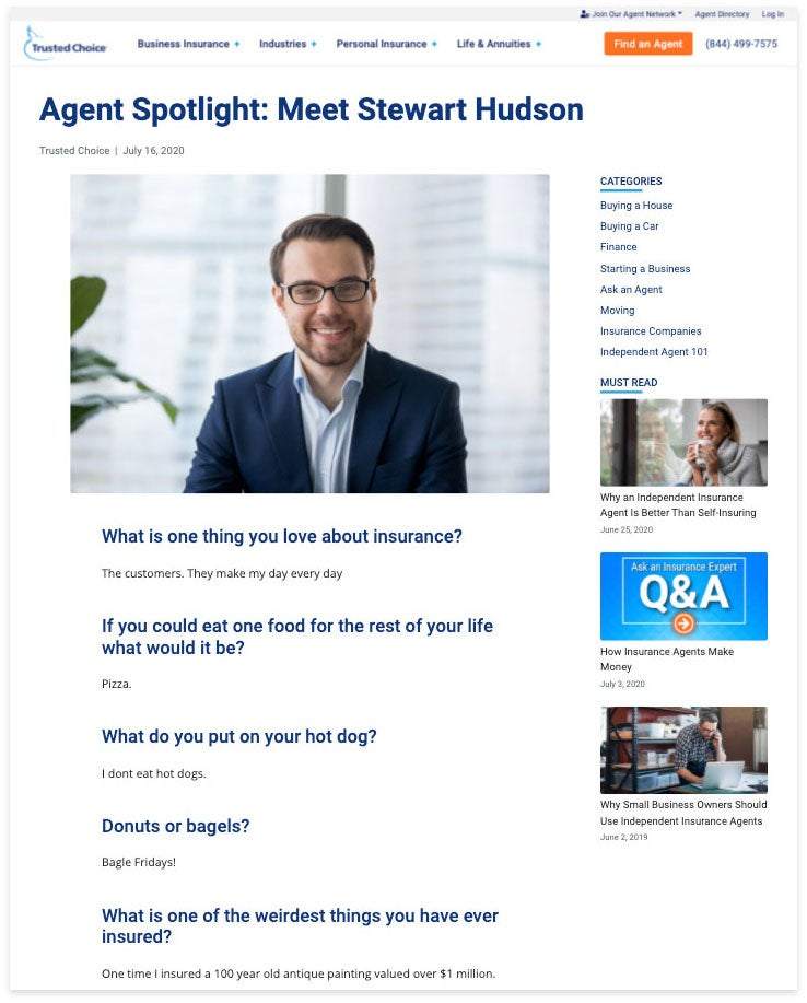agent spotlight stewart hudson