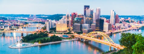 pittsburgh, pennsylvania at twilight