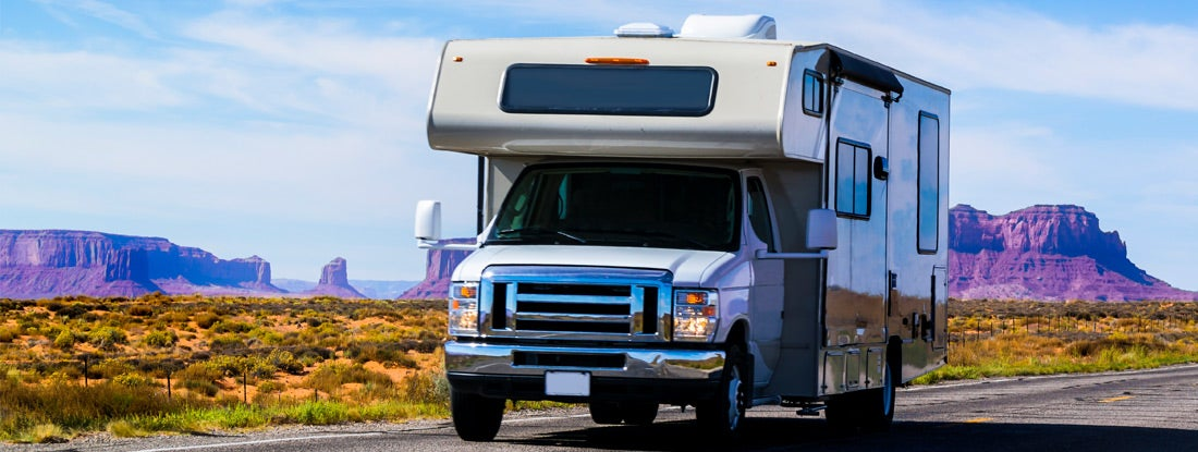 Photo of an RV on the road