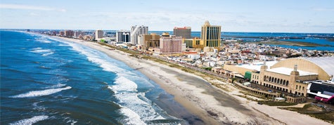 Atlantic city waterline aerial view, New Jersey