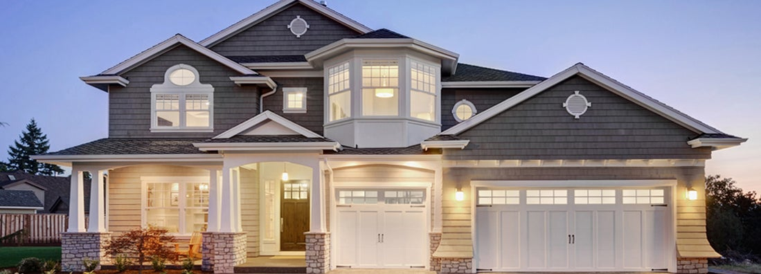 Beautiful Exterior of New Home at Twilight