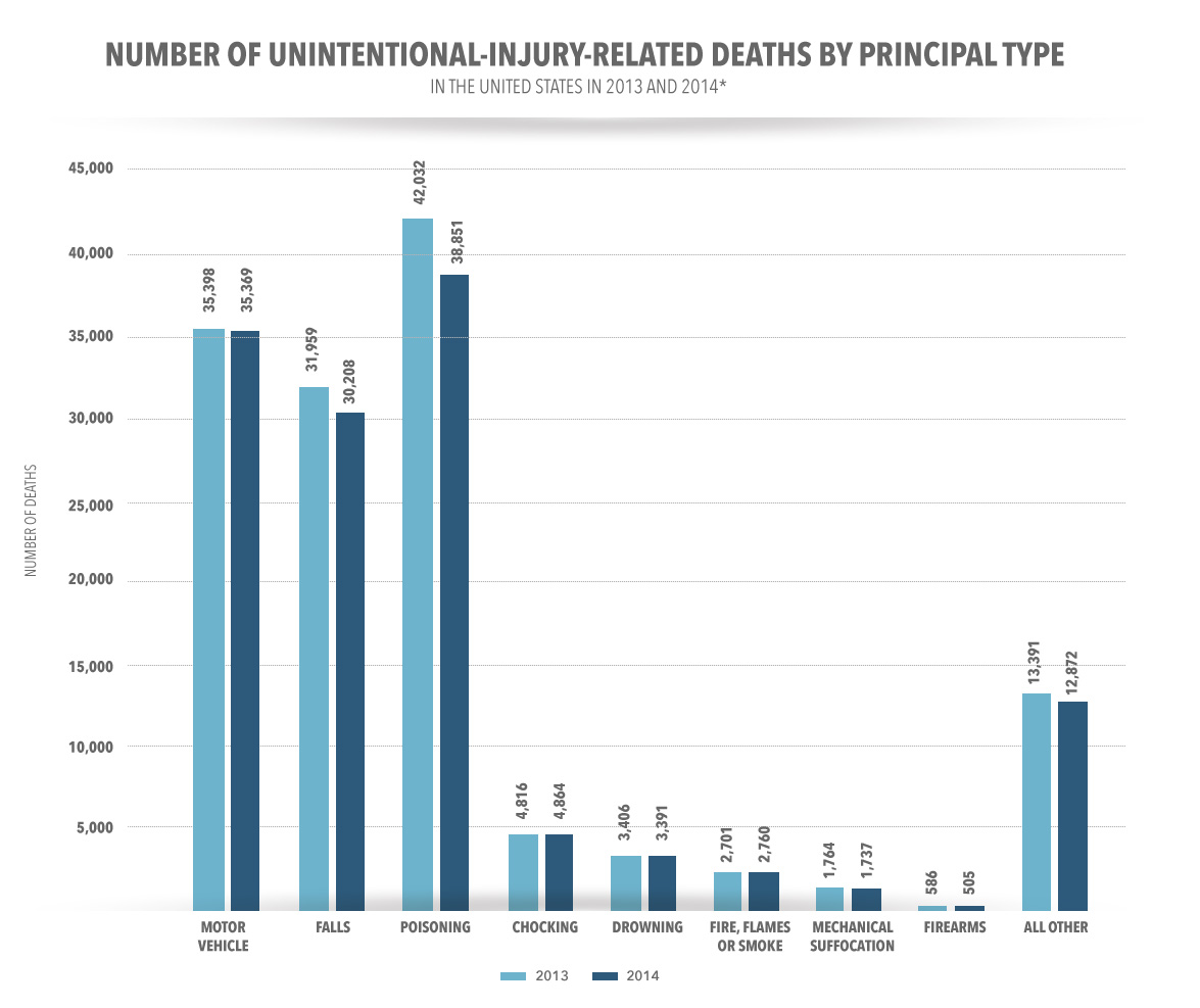 accidental death graph per principle type