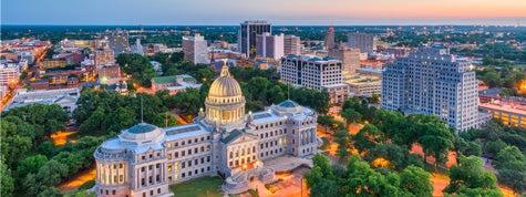 Jackson, Mississippi, downtown skyline