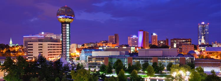 Sunsphere in downtown Knoxville, Tennessee