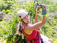 Woman enjoying the Wimberley Zipline Adventures