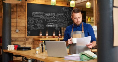 restaurant owner reviewing insurance options