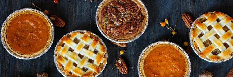 Apple pie Pumpkin pie and Pecan pie
