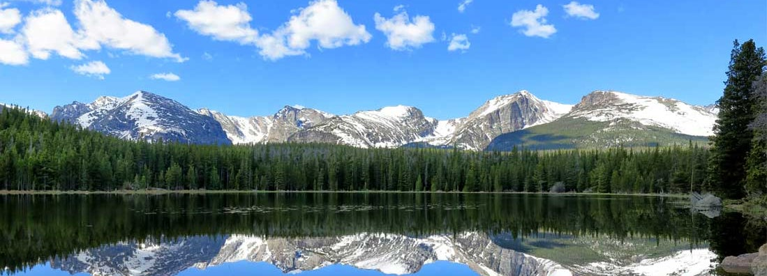 Bierstadt Lake Reflection in Rocky Mountain National Park