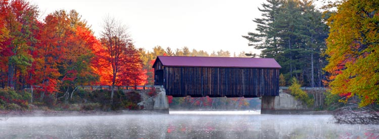 County Covered Bridge near Hancock, New Hampshire