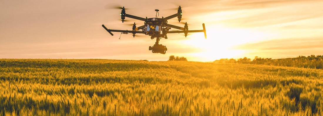 Agribusiness insuring drone for crops