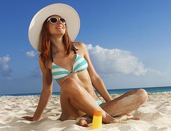 Woman enjoying the beach