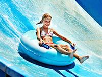Girl enjoying the Schlitterbahn water park