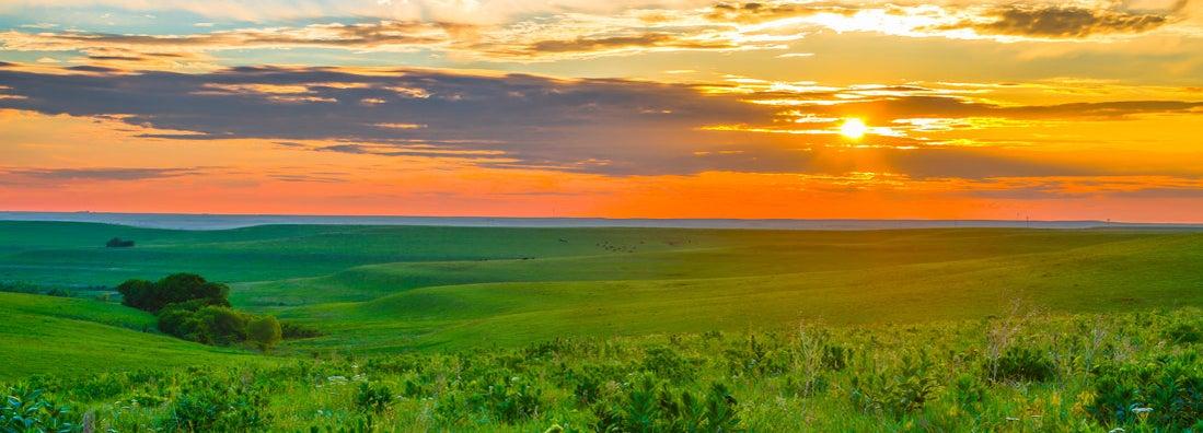 Sunset in the Flint Hills outside of Alma, Kansas