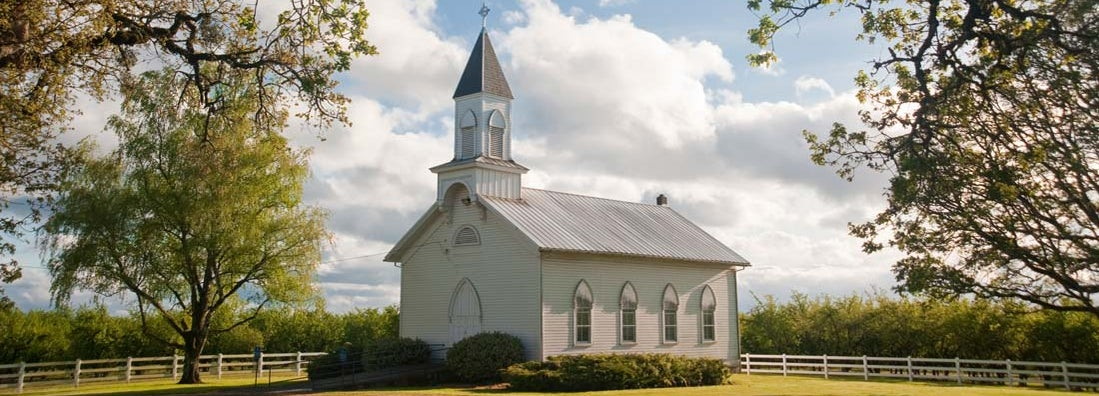 Old rural church in Willamette Valley, Oregon