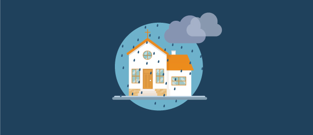 church in a storm illustration
