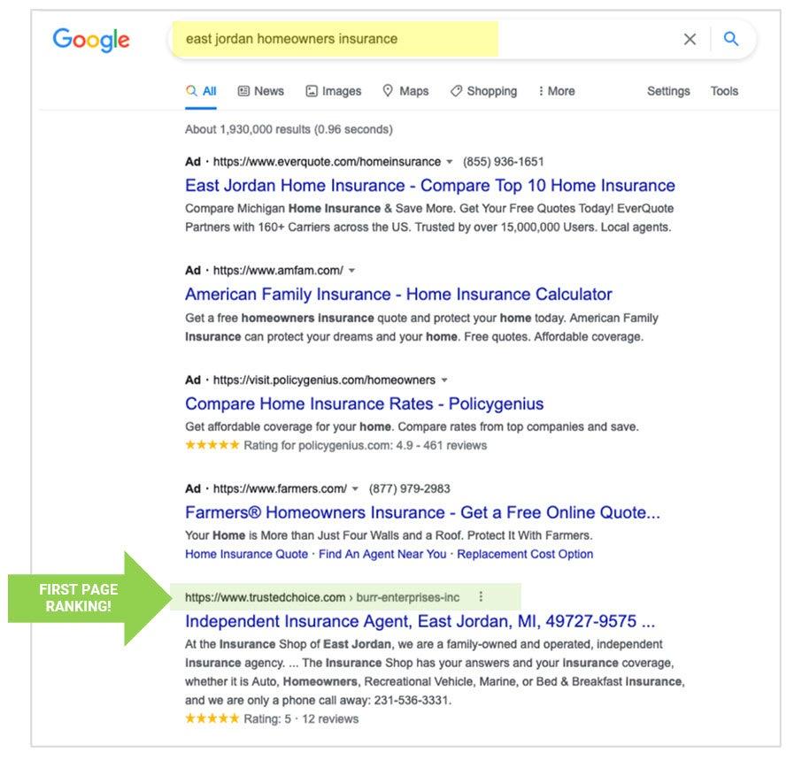 east jordann homeowners insurance search result