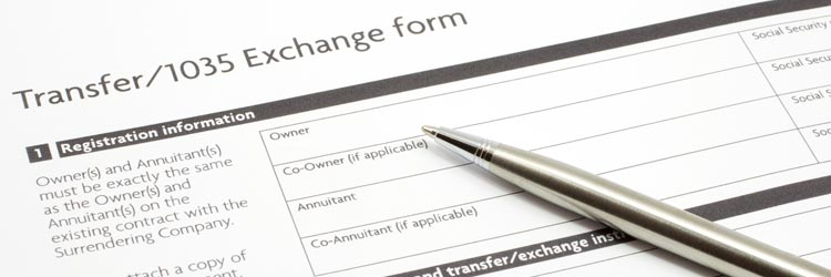 Annuities 1035 exchange form