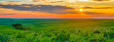 Sunset in the Flint Hills outside of Alma, Kansas